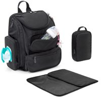 Best Choice Products Baby Diaper Multifunctional Bag Travel Backpack w/ 14 Pockets, Stroller Straps, Changing Pad, Sundry Bag - Black