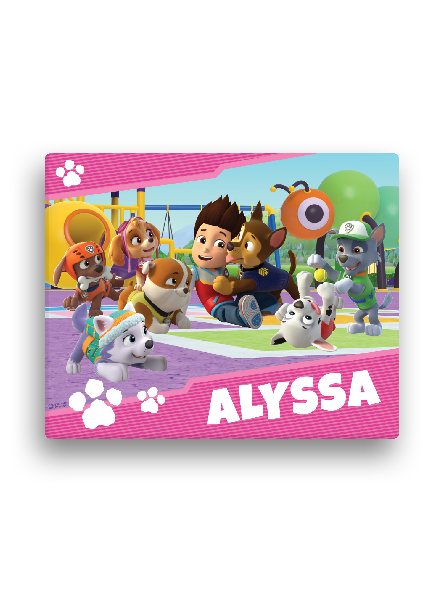 165 PAW PATROL NAME PERSONALIZED DOOR WALL ROOM POSTER CUSTOMIZED