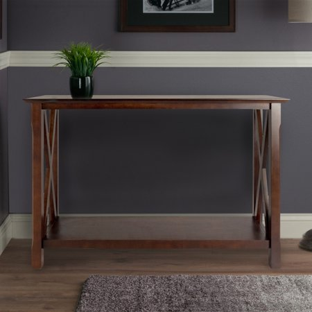 - Winsome Wood Xola X Panel Console Table, Cappuccino Finish