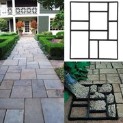 1 PCS Concrete Paving Stepping Stone Mold Path Walk Maker Paver Walk Way, Rectangular Patterns