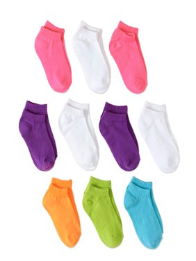 Hanes Baby Toddler Girl Low Cut Socks - 10 Pack