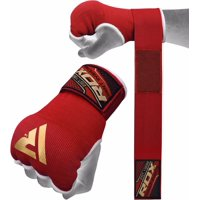 RDX MMA Boxing Inner Gloves, Red, Medium