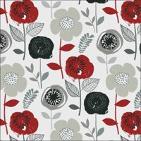 Waverly Inspirations BLOOM ONYX 100% Cotton Print Fabric 44'' Wide, 140 Gsm, Quilt Crafts Cut By The Yard