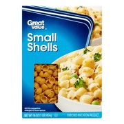 (4 pack) Great value small shells pasta, 16 oz