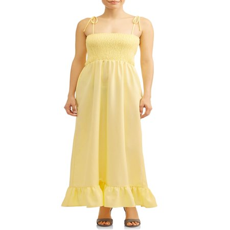 Women's Smocked Maxi Dress - Smocked Corduroy Dress