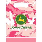 John Deere Pink Camouflage Favor Bags (8ct)