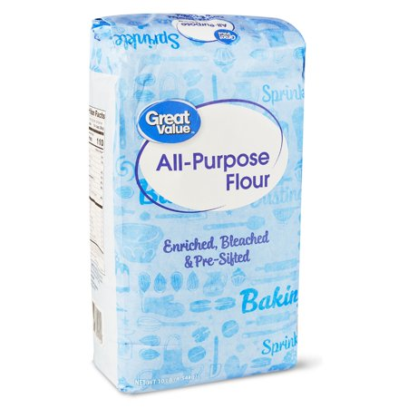 (2 Pack) Great Value All Purpose Flour, 10 Lb ()