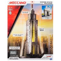 Meccano by Erector, 2 in 1 Model Kit: Empire State Building & Arc de Triomphe