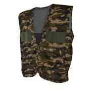 9f7c8fb307059 QuietWear Camo Hunting Vest with Game Bag, Brown Camo
