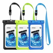 Mpow Waterproof Case, Cellphone Dry Bag, Universal Smartphone Pouch for iPhone X/8/7/7 Plus, Samsung Galaxy /Google Pixel/LG/HTC (3 Pack)