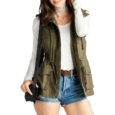 Women's Cotton Cargo Utility Vest