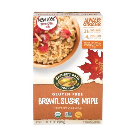 Instant Oatmeal Maple Brown Sugar - Nature's Path Gluten Free Organic Instant Oatmeal, Brown Sugar Maple, 8 Packets