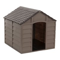 "Archi and Oscar Augie Dog House, Medium, 27""x28""x28"", Mocha/Brown"