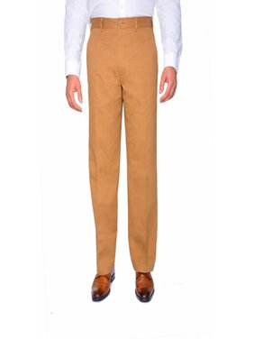 Men's Flat Front Wrinkle Resistant Pants