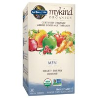 Garden of Life Mykind Organics Men One A Day Multivitamin Tablets, 30 Ct