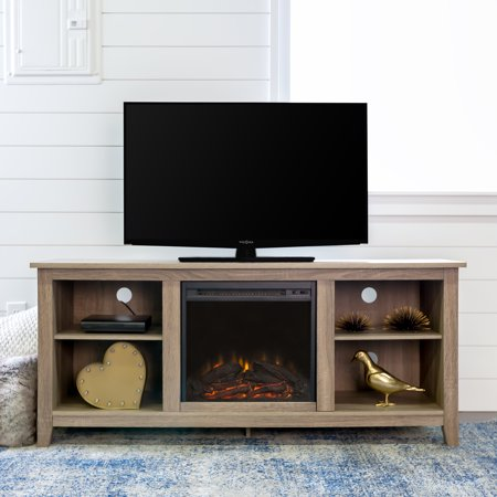 Walker Edison Tv Stand With Fireplace Insert For Tvs Up To 60
