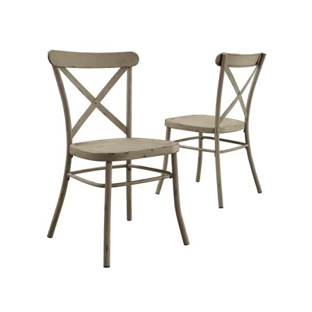 Better Homes and Gardens Collin Distressed White Dining Chair, Set of 2, Multiple Finishes ()