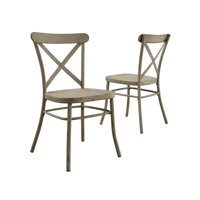 Better Homes and Gardens Collin Distressed White Dining Chair, Set of 2