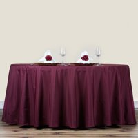"""Efavormart 70"""" Round Polyester Tablecloth for Kitchen Dining Catering Wedding Birthday Party Decorations Events"""