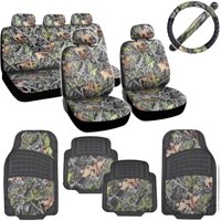 BDK Hawg Camouflage Car Seat Covers with Floor Mats and Steering Wheel Cover