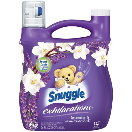 Fabric Softener (Snuggle Exhilarations Liquid Fabric Softener, Lavender & Vanilla Orchid, 96 Ounce, 112 Loads )