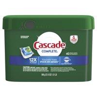 Cascade Complete ActionPacs Dishwasher Detergent, Fresh Scent, 40 count