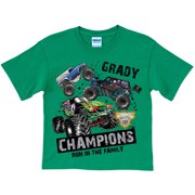 c15d558fc Personalized Monster Jam Digger Family Boys' T-Shirt, Green