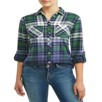 Woven Ombre Plaid Shirt Women's