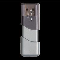 PNY Elite Turbo Attache 3 32GB Turbo USB 3.0 Flash Drive - P-FD32GTBOP-GE