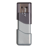 PNY Elite Turbo Attache 3 32GB Turbo USB 3.0 Flash Drive - P-FD32GTBOP-GE