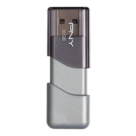 PNY Elite Turbo Attache 3 32GB Turbo USB 3.0 Flash Drive - P-FD32GTBOP-GE Drive Gear 3 Way