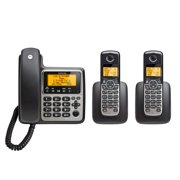 Motorola M803C DECT 6.0 Corded Base Phone with 2 Cordless Handsets and Answering System