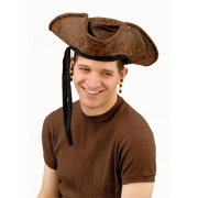 24131aa16278a Brown Distressed Pirate Hat w beads for Adult