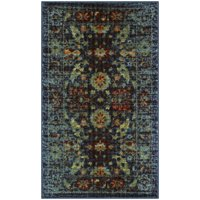 Better Homes and Gardens Distressed Multi Blooms Textured Print Area Rug