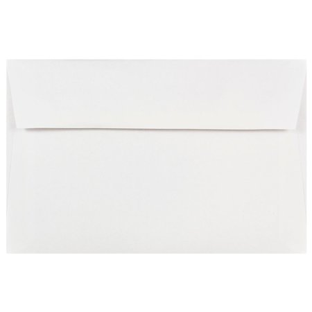 JAM Paper A9 Invitation Envelopes, 5 3/4 x 8 3/4, White, (Plus Fabric White Envelopes)