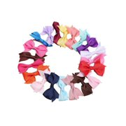 f10beb0f2fe9c 20 Colors Girls Hair Clips Alligator Clips Bow Ribbon Kids Sides