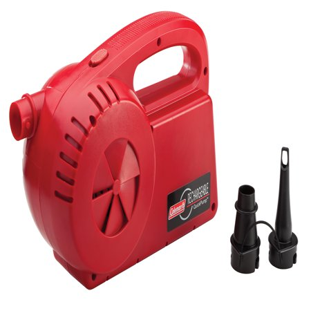 Coleman Rechargeable QuickPump with Double Lock Valve and Pinch Valve Adapter included