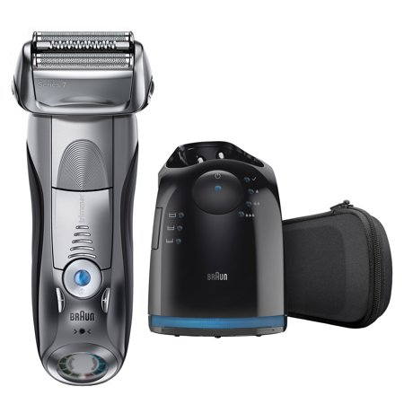Braun Series 7 790cc ($50 Mail in Rebate Available) Men's Electric Foil Shaver, Rechargeable and Cordless Razor with Clean & Charge