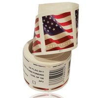 U.S. Flag 1 roll of 100 USPS Forever First Class Postage Stamps Billowing Stars & Stripes Celebrating Patriotism