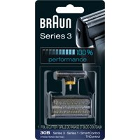Braun Shaver Replacement Part 30 B Black - Compatible with Series 3 shavers