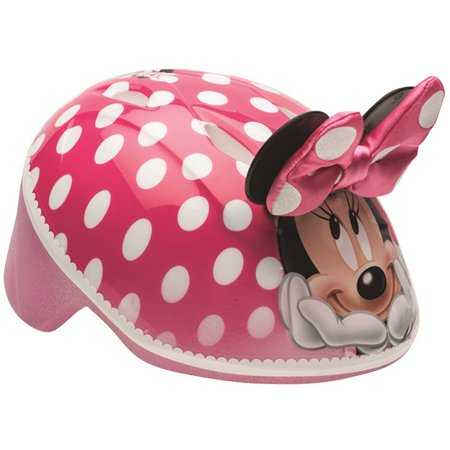 Bell Disney Minnie Mouse 3D Bike Helmet, Pink Polka Dots, Toddler 3+ (48-52cm)