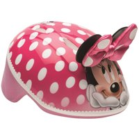 Disney Minnie Mouse 3D Toddler Bike Helmet, Pink Polka Dots