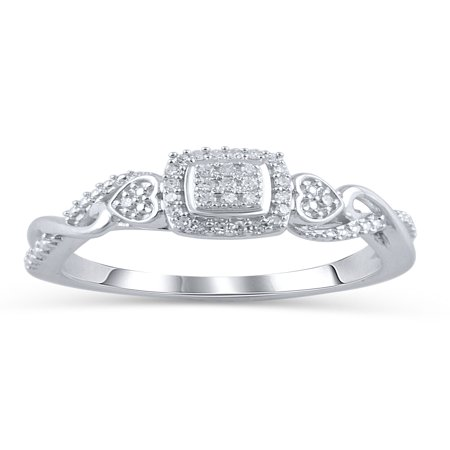 1/10 Carat T.W. Diamond Sterling Silver Promise Ring ()