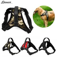 Spencer No Pull Adjustable Dog Vest Harness For Large Medium Dogs Puppy Harness Chest Strip Leash (Camouflage,S)