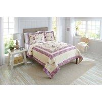 Better Homes & Gardens Full Queen Purple Blossoms Quilt, 1 Each