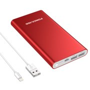 Poweradd Pilot 4GS 12000mAh Power Bank 3A Dual USB Ports External Battery Portable Charger for iPhone iPad Samsung Galaxy Mobile Cellphone with Lightning 8-Pin Cable (3.3ft)