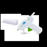 High-Temp Mini Glue Gun Pack-White Gun/Red Trigger W/10 Mini Sticks