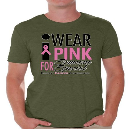 I Wear Pink for Someone Special T-shirt Top Cancer mens t shirt breast cancer awareness t shirt faith love hope fight believe support survive survivor gifts tackle wear pink for my think pink ribbon