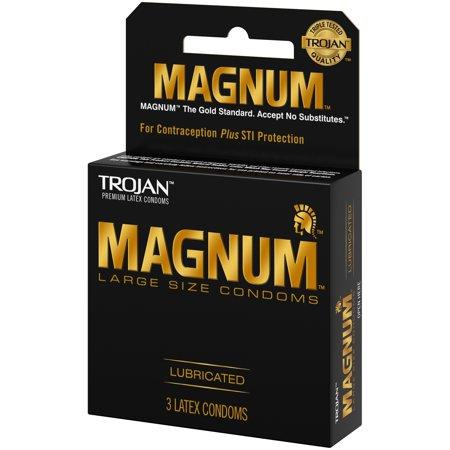 Trojan Magnum Large Size Lubricated Condoms, 3ct](Trojan Warrior)
