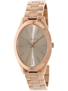 Women's Slim Runway Rose Gold-Tone Stainless Steel Bracelet Watch 42mm MK3197